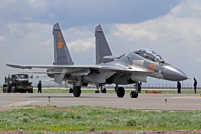 Kazakhstan Air Force Sukhoi Su-30SM 02 Red TSE 23-05-18