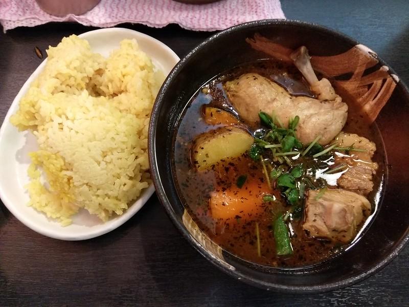 Chicken soup curry at sapporo dominica, Yaesu