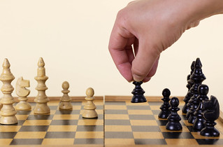 Hand move chess figure   by wuestenigel