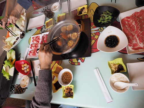 Overview of our steamboat lunch table. | by huislaw