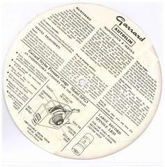 Garrard Autoslim Instructions Back