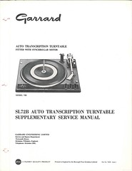Garrard TechEng Service Manual SL72B