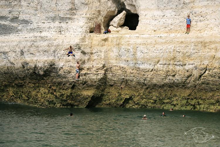 Plongeon de la falaise