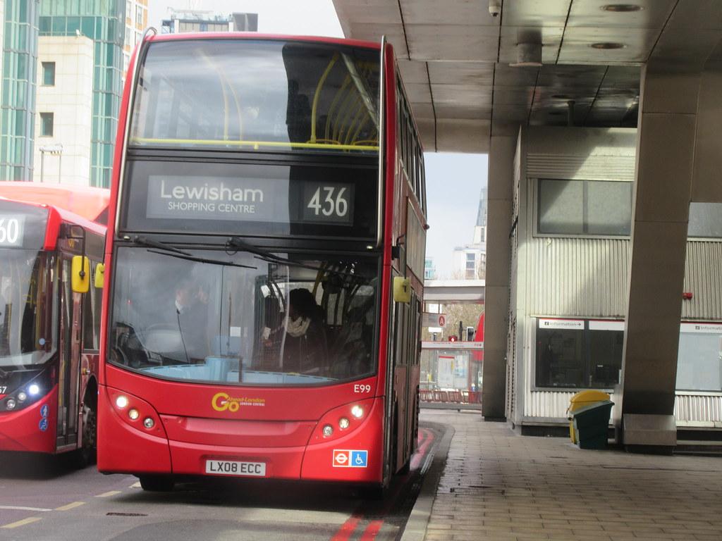 London Bus Route 436 Lx08 Ecc E99 London Central Alex