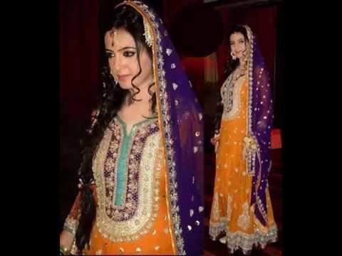 Latest Mehndi dresses indian and pakistani 2017