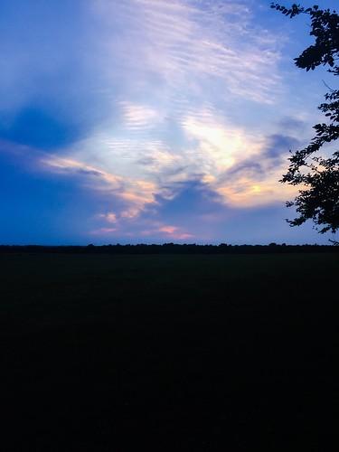 oklahoma iphone clouds dark black orange purple blue sunset