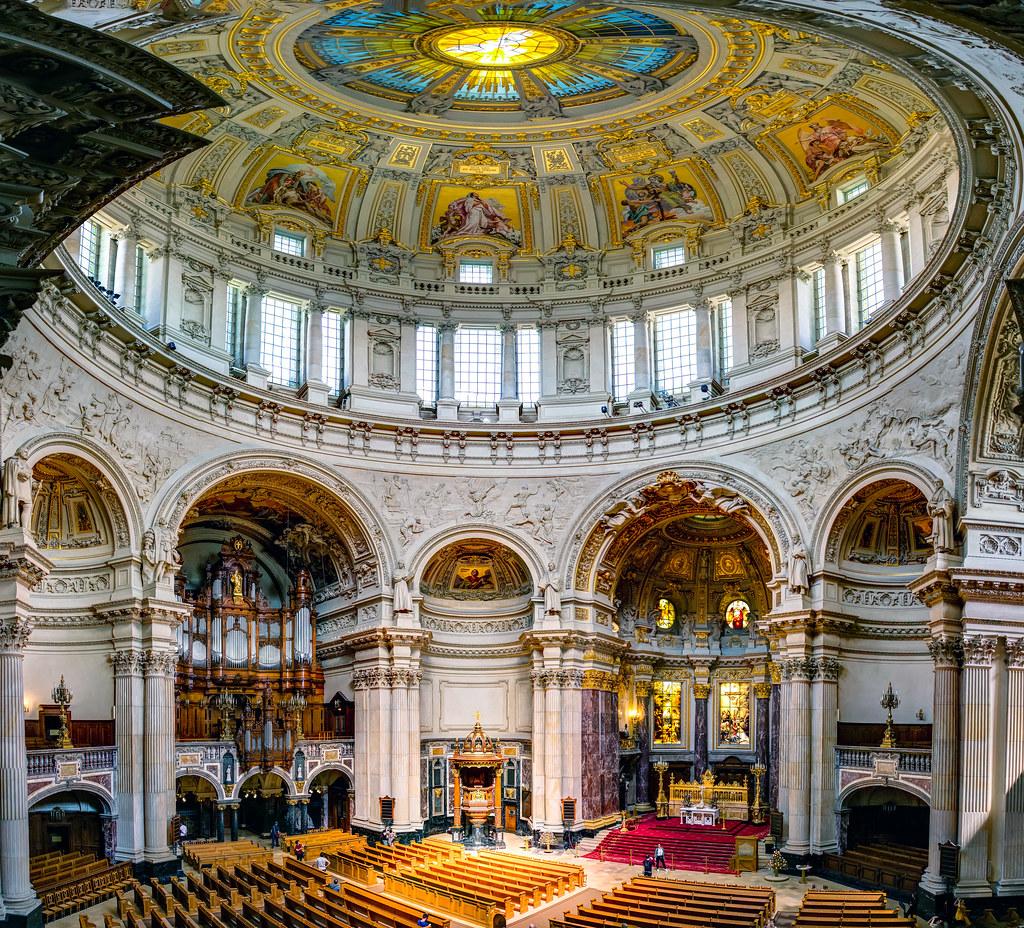 Blick Von Der Empore In Den Berliner Dom Mit Der Großen Sa Flickr
