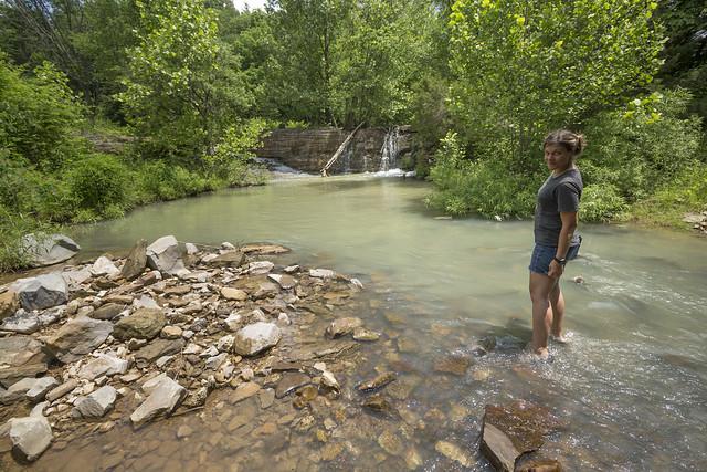Megan Atkinson, mill dam, Otter Creek, Wayne County, Kentucky
