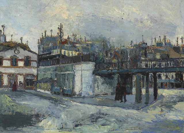 Maurice Utrillo - The Viaduct (Passage Gare du Nord) [c.1908]