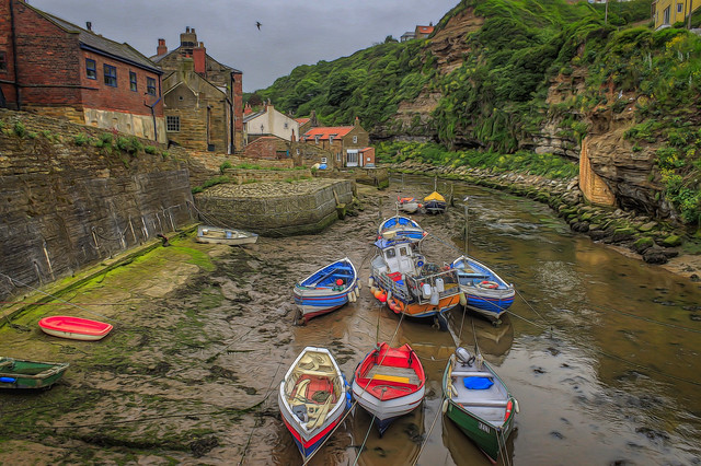 The Boats of Staithes