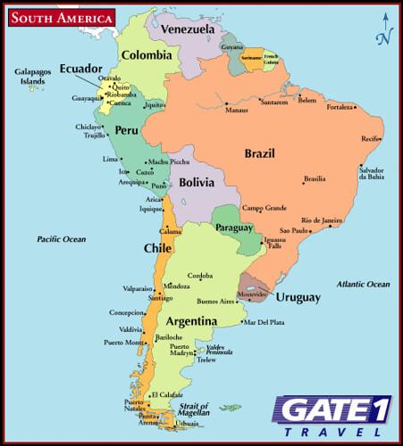 Mapa América del Sur (South America map) | América do Sul, A… | Flickr