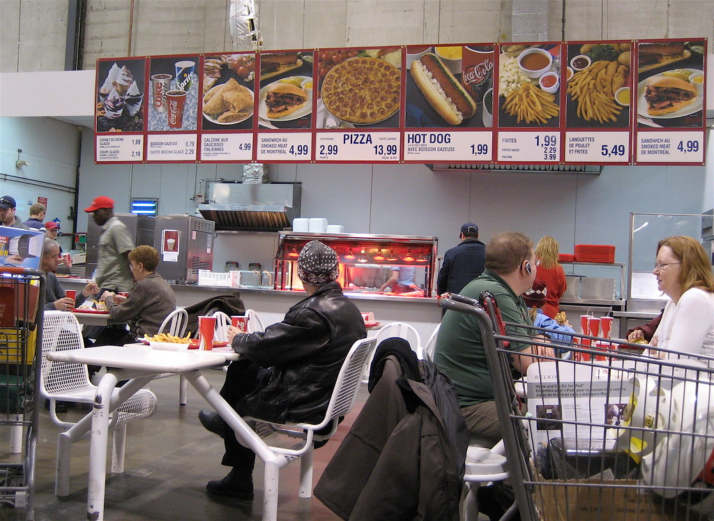 Costco Cafeteria   They used to have a salad but it didn't l