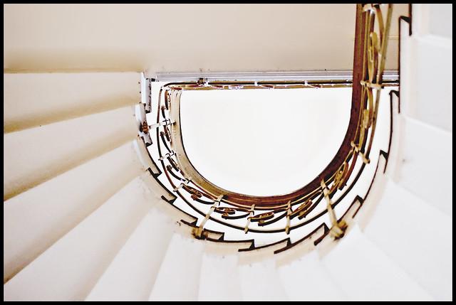 stairs (upskirt view)