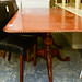 Ornate rope effect mahogany extendable dining table E440