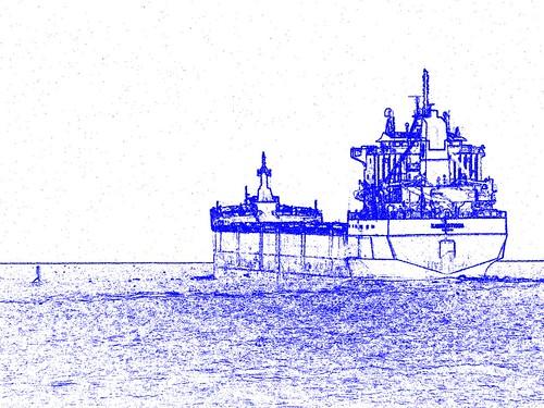 sliderssunday hss freighter ship boat slide blue lakehuron ontario canada ontariocanada