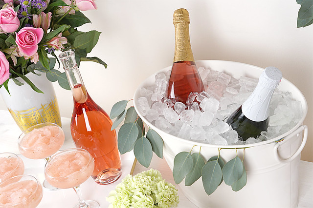 Wine and Cider in Ice Bucket