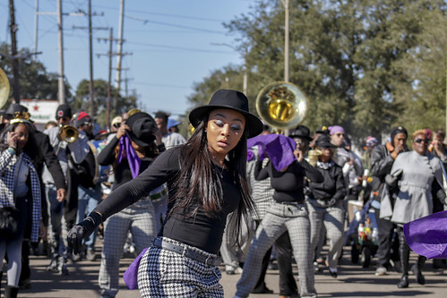 Lady Jetsetters second line - Jan. 14, 2018. Photo by Jamell Tate.
