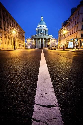 Pantheon and Rue Soufflot shot wide angle