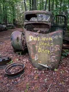 Don't open hoods doors | by Ed Rosack