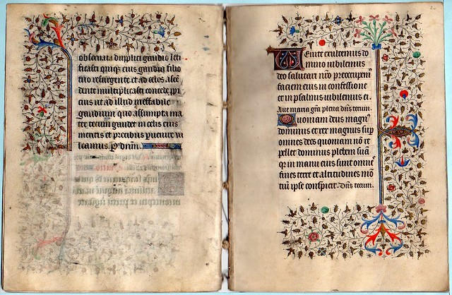BOOK OF HOURS FOR THE USE OF BESANÇON Ref 523 f.19v and f.20r