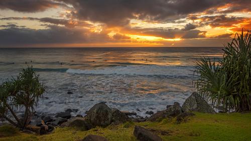 cloudsstormssunsetssunrises clouds sky sunsetsandsunrisesgold sunrise sea water waterreflections coast goldcoast