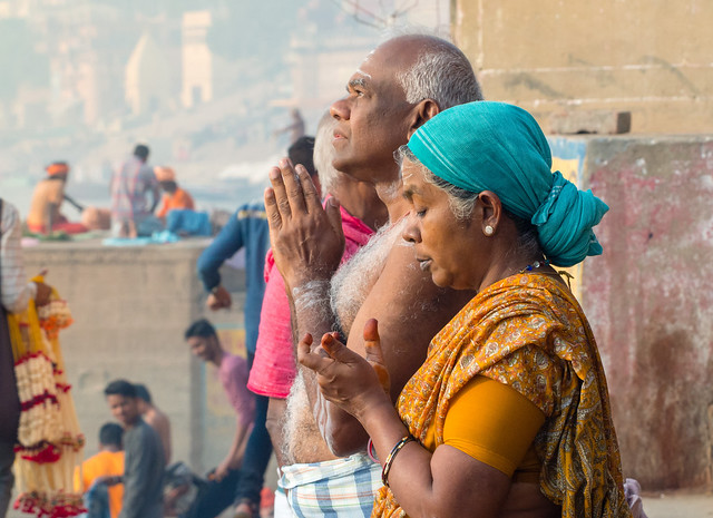 En prières..ou pas.. Varanasi