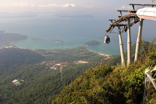 skycab langkawi cablecar cable car malaysia gondola landscape mountains sea island