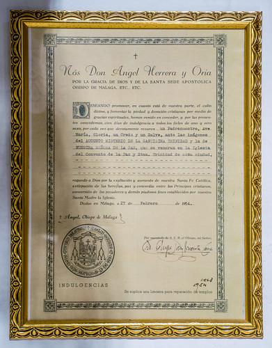Indulgencia concedida en 1954