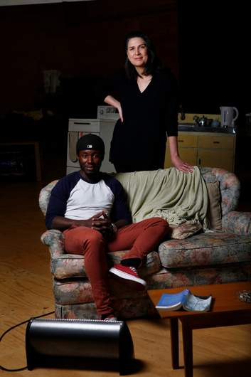 Actor Pacharo Mzembe with Pamela Rabe | Photo by Eddie Jim