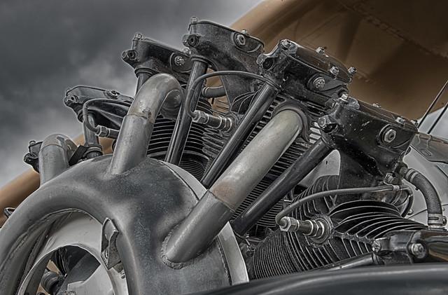 Lycoming R-680 Radial Engine on a Boeing Stearman Biplane (N59231)