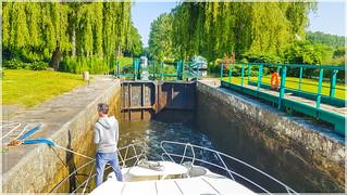 Hausbooturlaub 2018-Glénac/Bretagne, Schleuse 23 - Beaumont