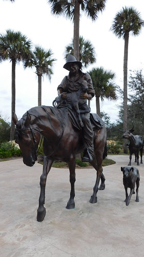 bronze statues lifesize country horse rider dog cow art cowboy calf realistic landscape steer saddle themed artistic sculpture sculptures details detailed