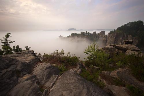 bastei nebel sächsischeschweiz fog morning morgen canyon dawn sonnenaufgang elbe ngc npc