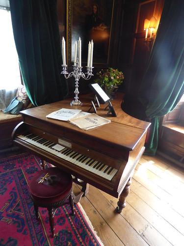 Drawing Room at Baddesley Clinton - piano