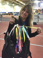 Good Luck ribbons for Trackmeets - made by coach joy!:four_leaf_clover: