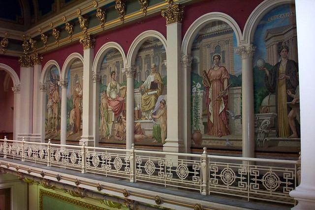 Iowa State Capitol ~ Dome Interior ~ Des Moines IA - Murals