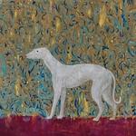 王明仁  Wang  Ming  Ren / 靈緹  greyhound /  化妝品、礦顏、漆 / 2018