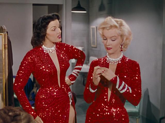 Jane Russell, Marilyn Monroe,