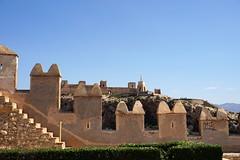Alcazaba garden and walls, Almeria, Spain