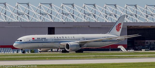 Air China, B-7800, 2016 Boeing B787-9 Dreamliner, MSN 34308, LN 455
