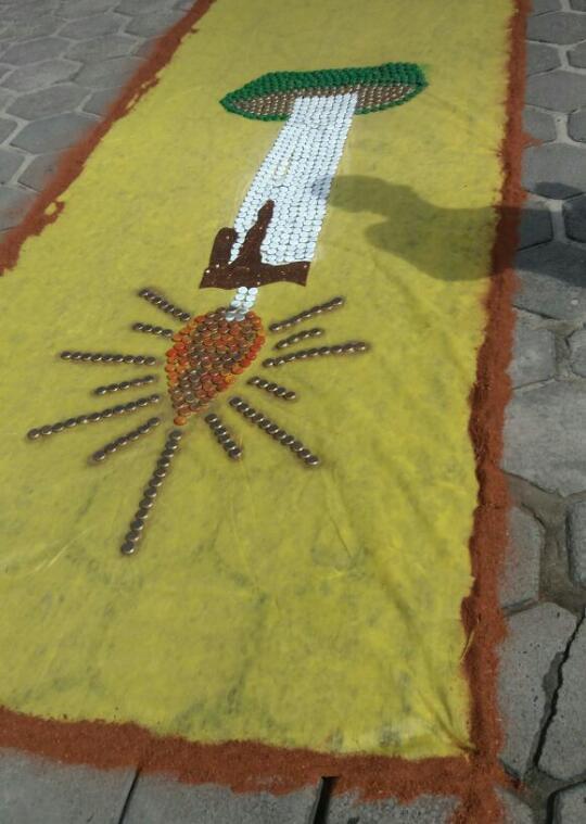Confecção de tapetes mantém a tradição no feriado de Corpus Christi em Prado (8)