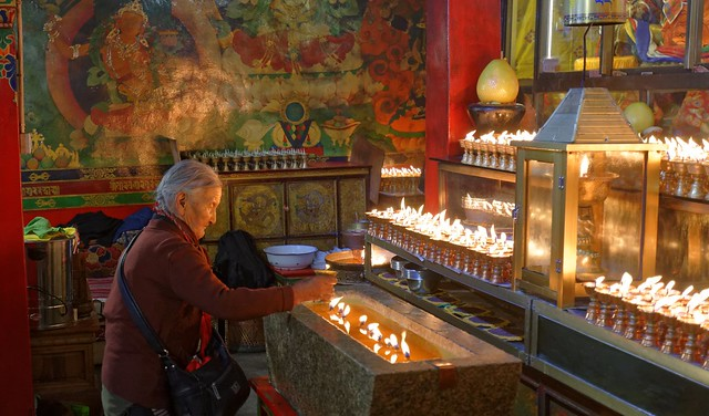 Monastery along the outer Linkhor of Lhasa, Tibet 2017