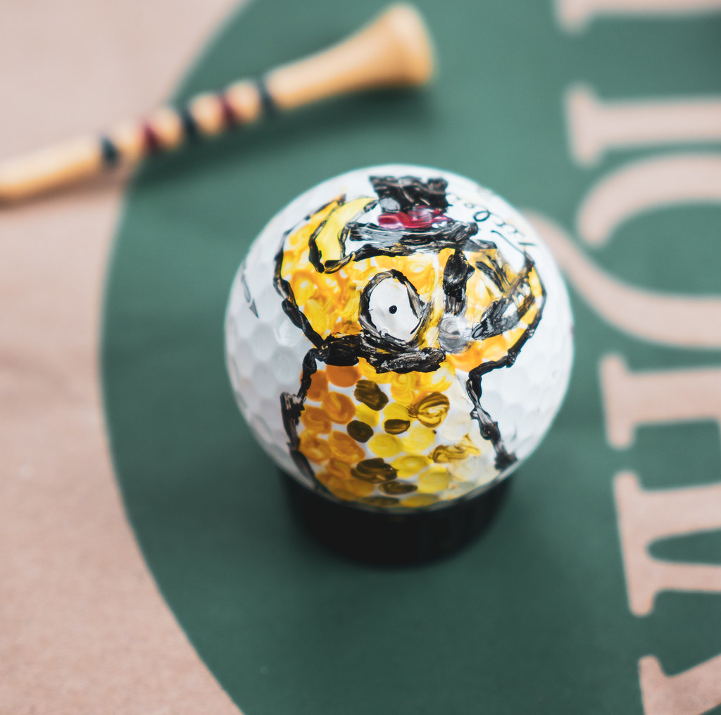 my daughter painted a fortnite llama on a golf ball by sergey galyonkin - fortnite golf ball