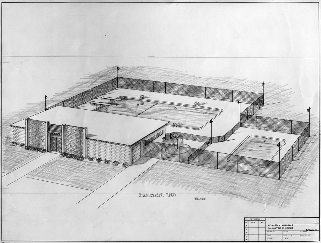 1962 - Public swimming pool plans | Historic Bremen | Flickr
