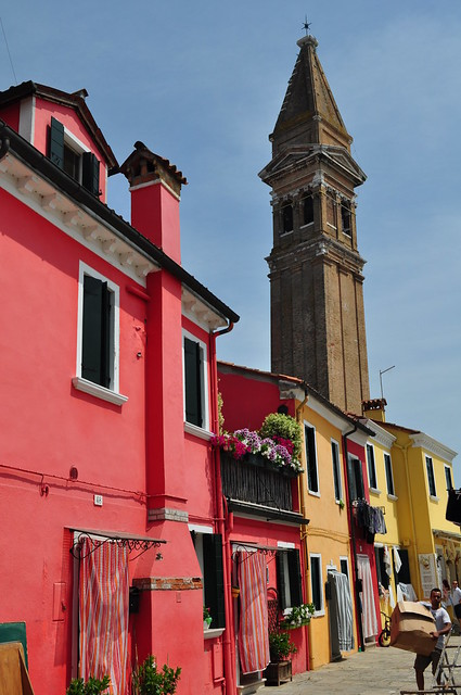 Fondamenta della Pescheria, Burano, lagune de Venise, Vénétie, Italie.