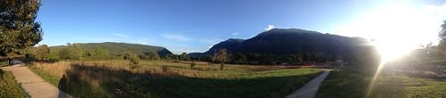 amphitheater greece ioannina epirus hpeiros mountains sunny summer afternoon