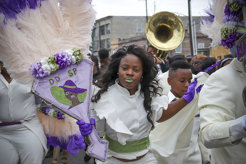 Devestation Divas second line. Photo by Jamell Tate.