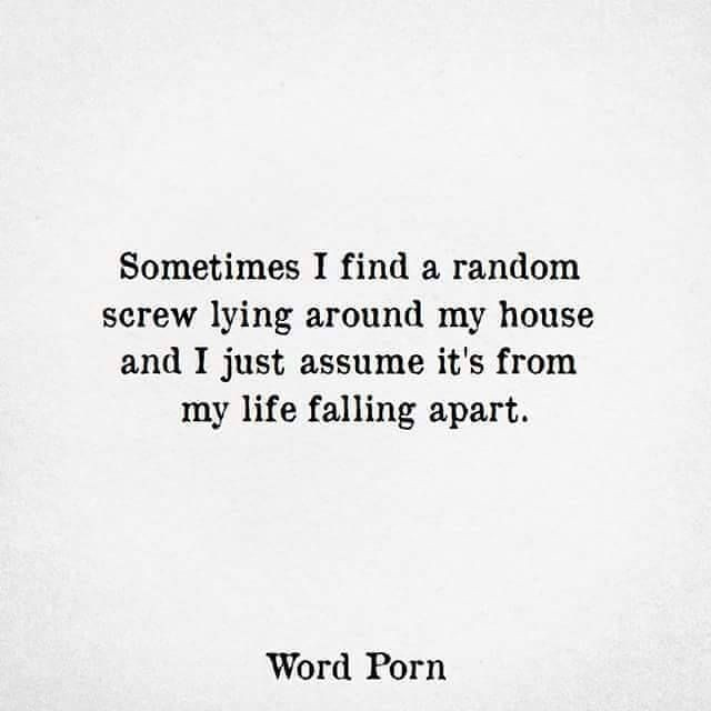 Funny Quotes Sometimes I Find A Random Screw Lying Aroun