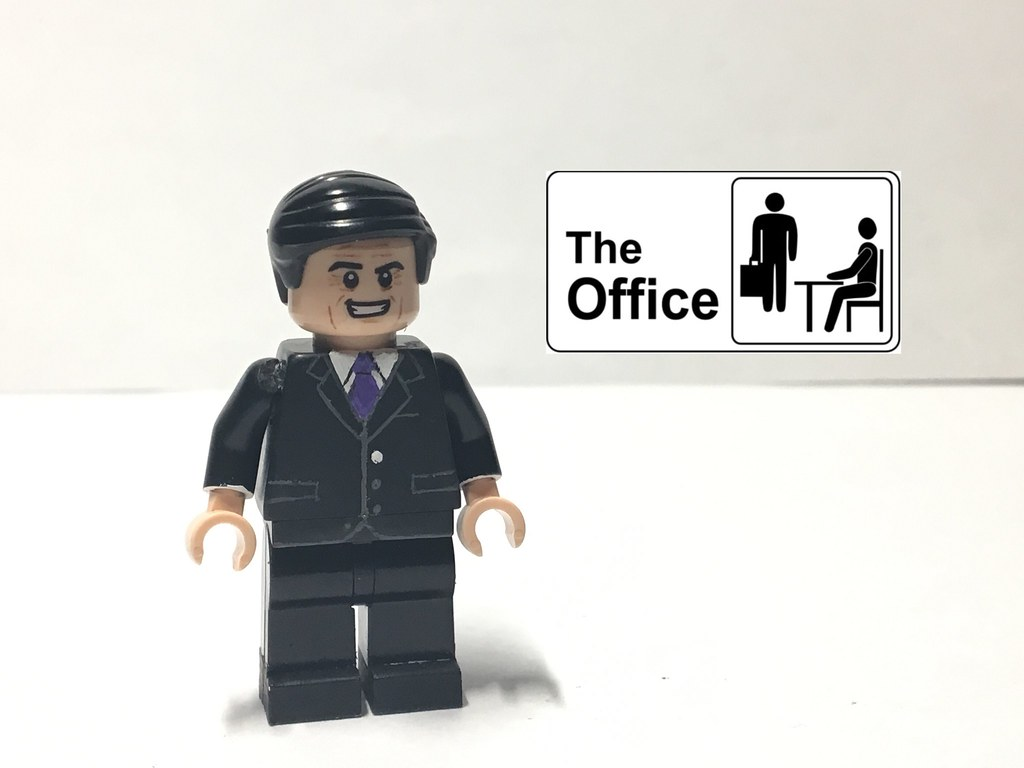 Custom Lego The Office Michael Scott Tlg Customs Flickr