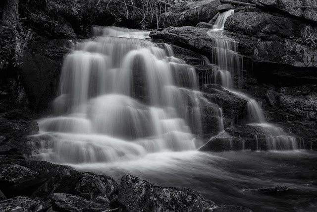 Elakala  Falls 2, B&W